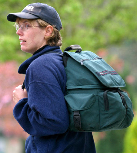 A camera backpack is easier to carry if you have to wear it all day on a shoot