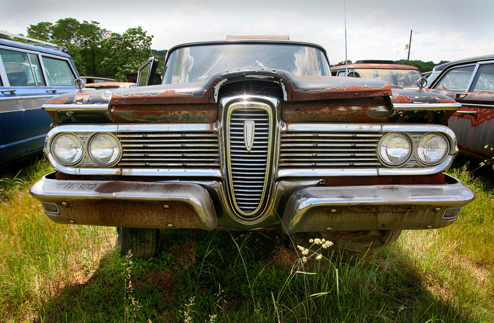Ford Edsel in a junk yard