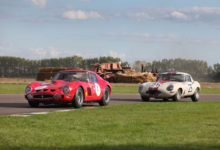 Ferrari 250GTO vs Lightweight Jaguar E type :f5.6 at 1/640th second Canon 70-200mm