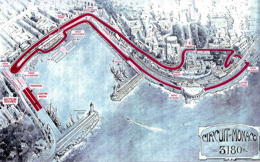 Map of Monaco circuit