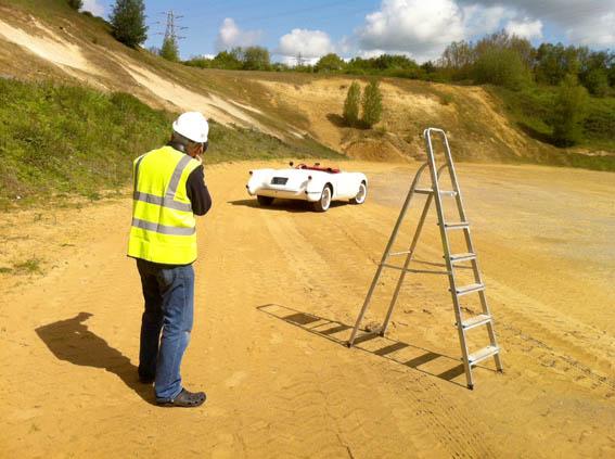 Corvette C1-sand-pit