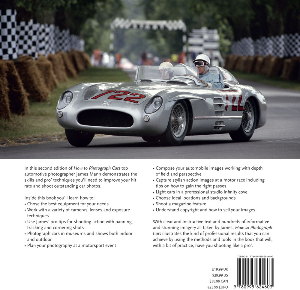 How to photograph cars back cover