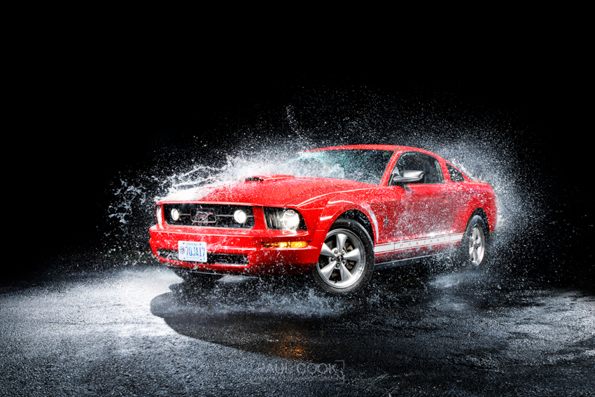 Mustang water splash
